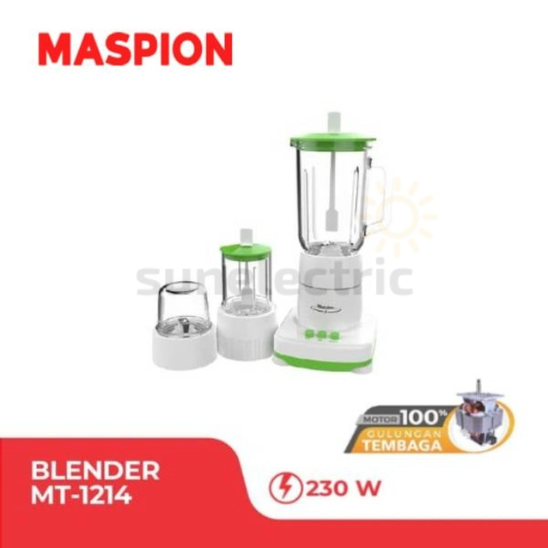 Maspion MT-1214 Blender Kaca + Dry + Wet Mill 3-in-1 Kapasitas 1 Liter