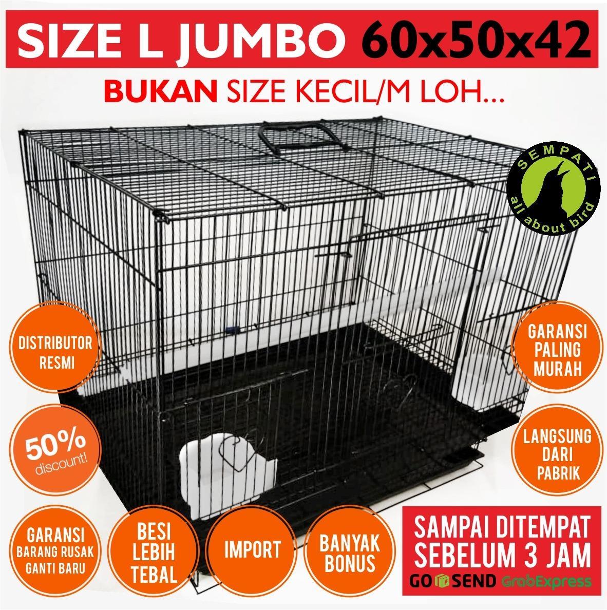 Sangkar Kandang Besi Umbaran Tebal Lipat Kotak Untuk Ternak Burung Lovebird Kucing Kelinci Anjing Sugar Glider Musang Marmut Tupai Iguana Hamster Umbaran Lazada Indonesia