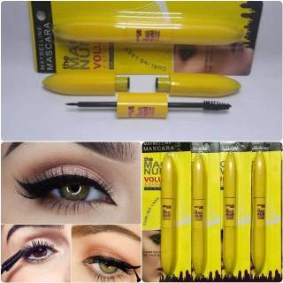 Mascara & Liquid Eyeliner MAYBELLINE 2 in 1 - Volum Express Smudgeproof Waterproof thumbnail