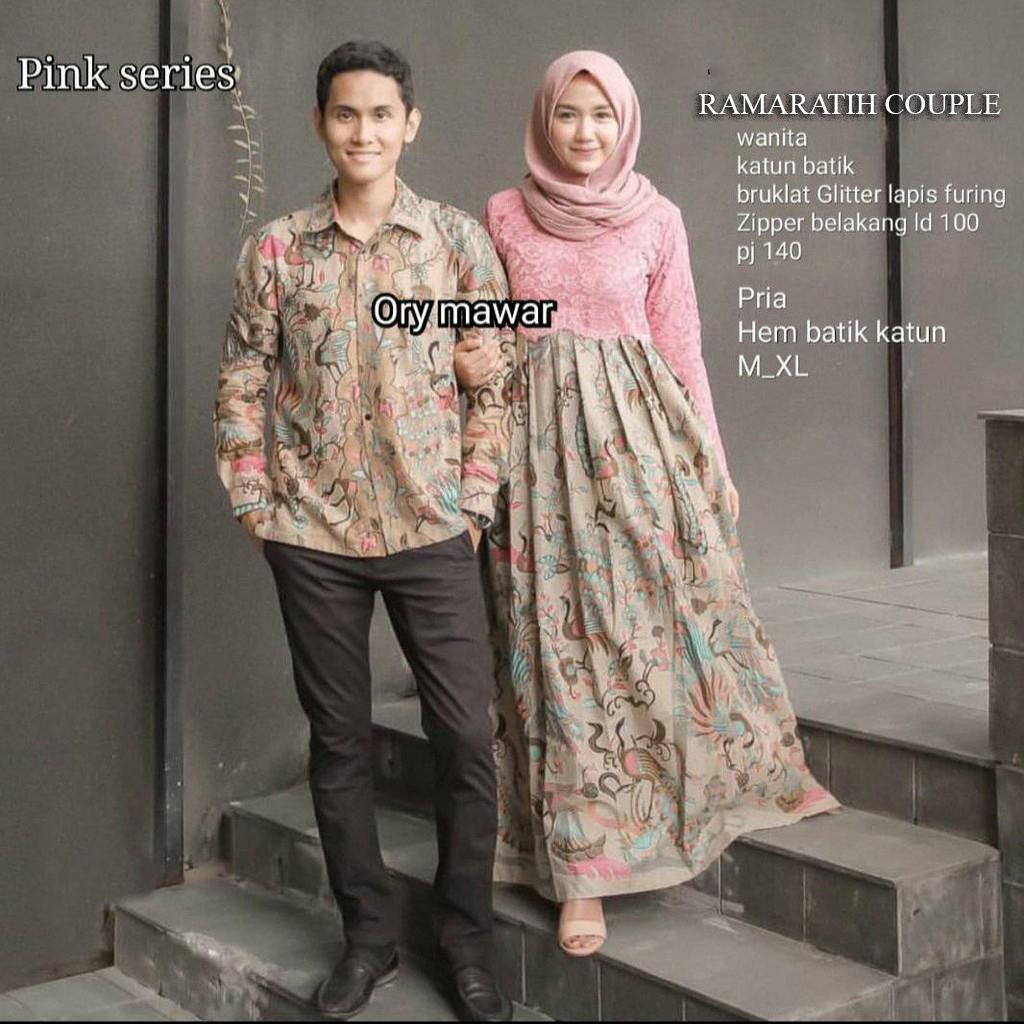 Batik Reno Baju Batik Couple   Baju Muslim Wanita Terbaru 2019   Batik  Sarimbit   Batik 63ae46ad53