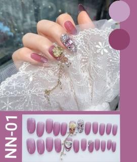 NN - wedding party fake nails-kuku palsu pernikahan-aksesoris kuku dan nailart(di kirim sesuai warna dan model gambar) thumbnail