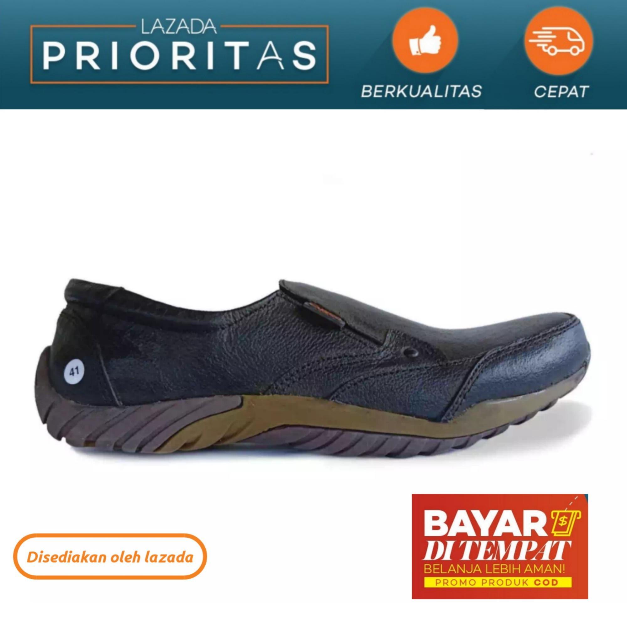 Sepatu Kulit Asli / Sepatu Slip on Kulit asli / Sepatu Casual Pria / Sepatu Pria Kulit / Sepatu Kul