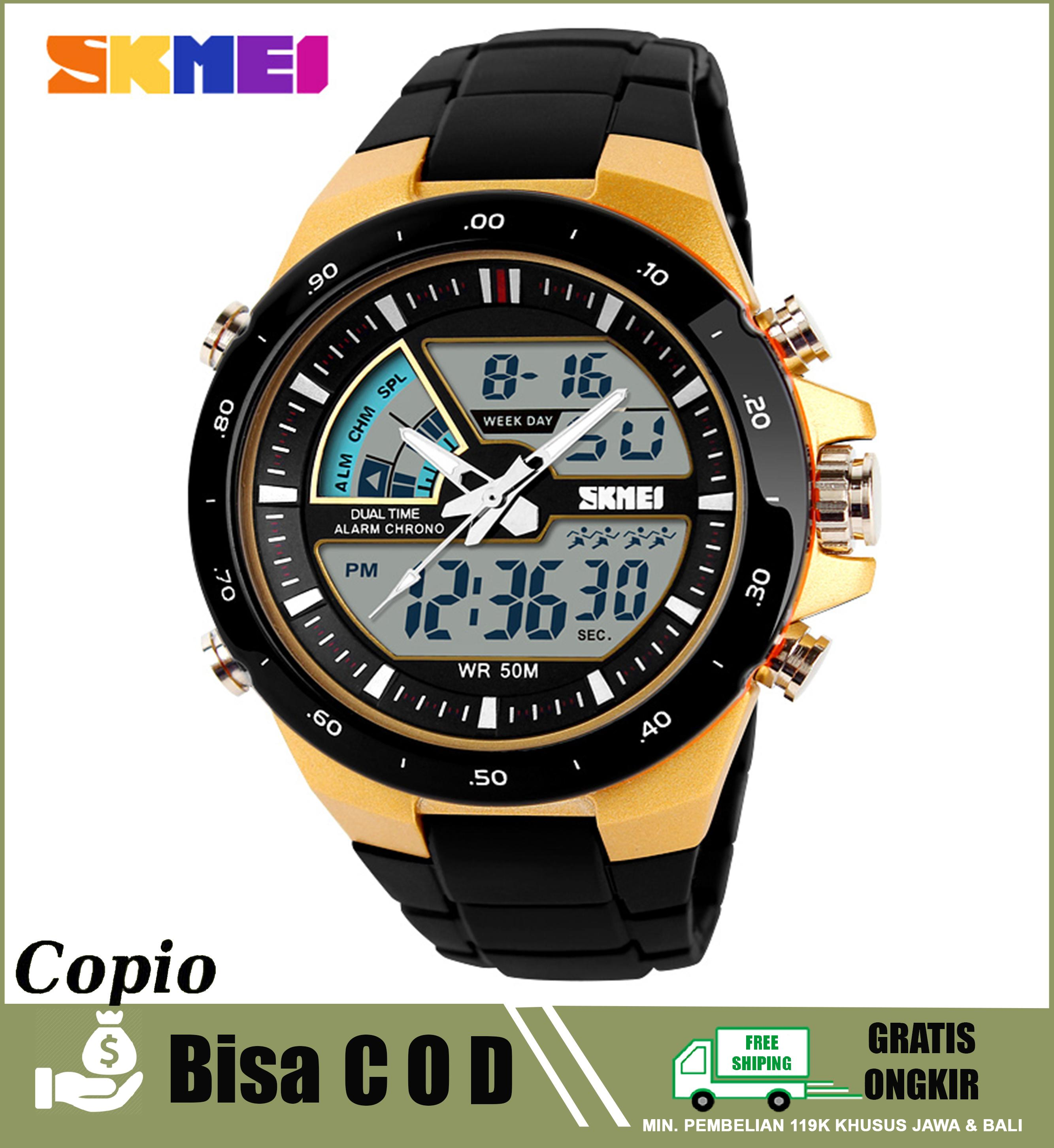 SKMEI 1016 Jam Tangan Sport Fashion Pria Water Resistant Anti Air 50M Analog Digital ORIGINAL Murah