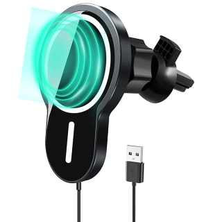 Magnetic Wireless Car Charger,15W Qi Fast Charging Air Vent Car Mount,for Fast Charging for iPhone 12 thumbnail