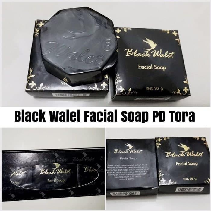 Black Walet Facial Soap Sabun Walet Hitam BPOM PD Tora - 90gr