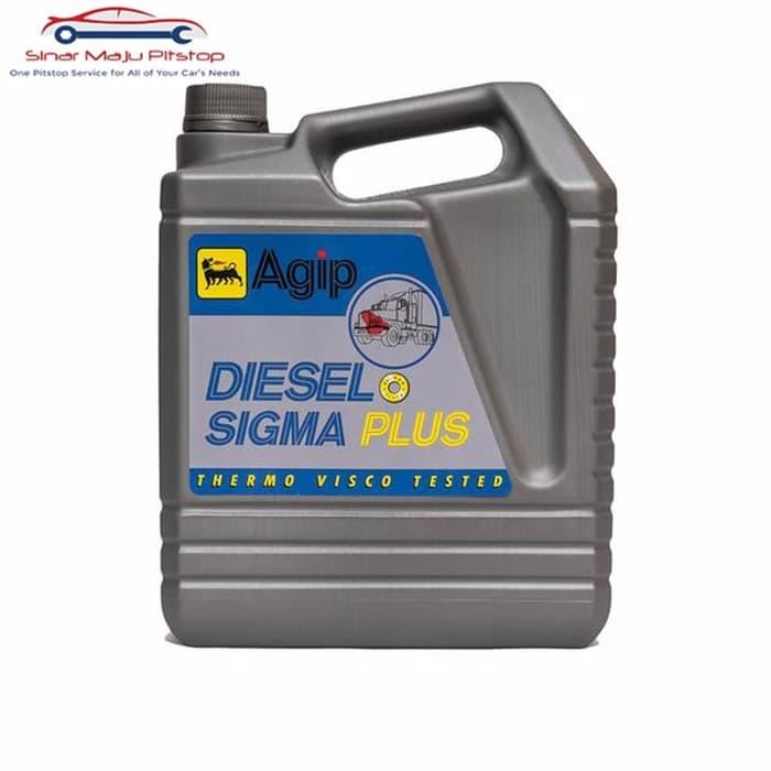 SPECIAL Agip Diesel Sigma Plus SAE 40 Oli Mobil Diesel 5 Liter Origin