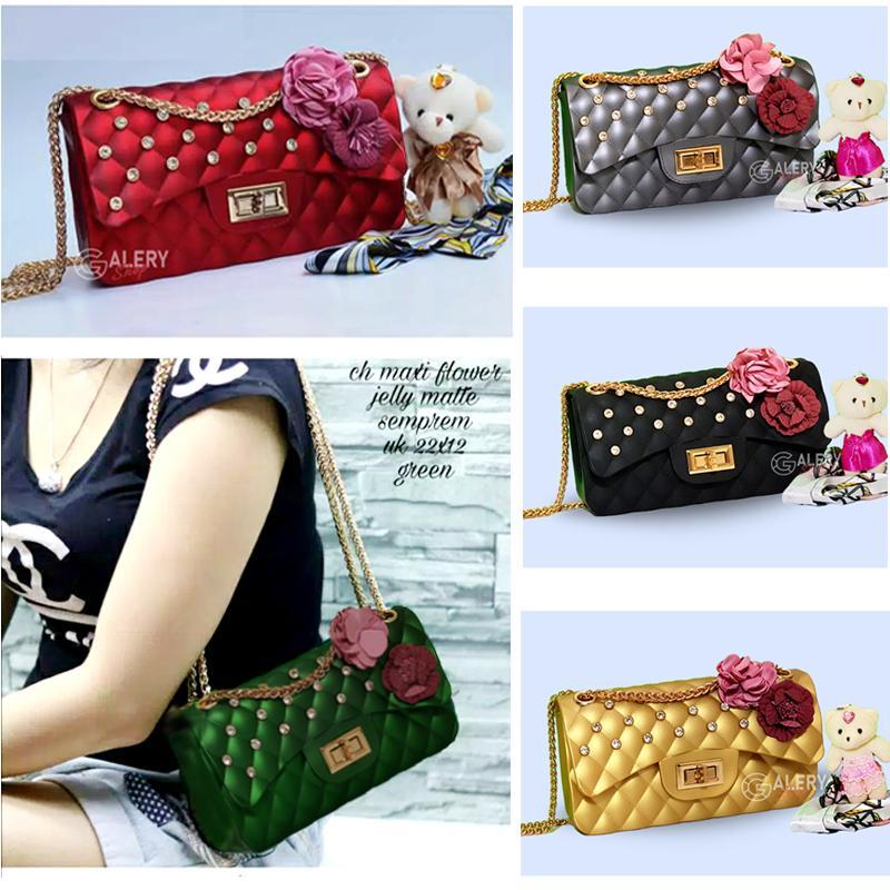 Galery Shop Jelly bag 22cm Kotak Diamond Bunga free SYAL+BONEKA bahan super  premium - 551d1405ff