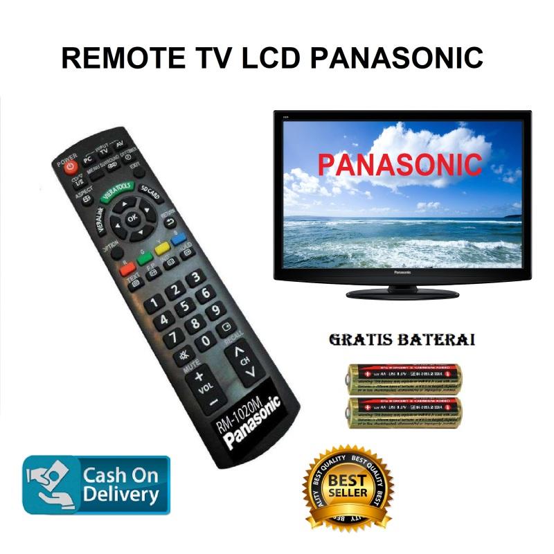 REMOTE TV LCD PANASONIC LED Gratis Baterai Batrai Remot Control TIVI Panasonic Hitam/MSS27