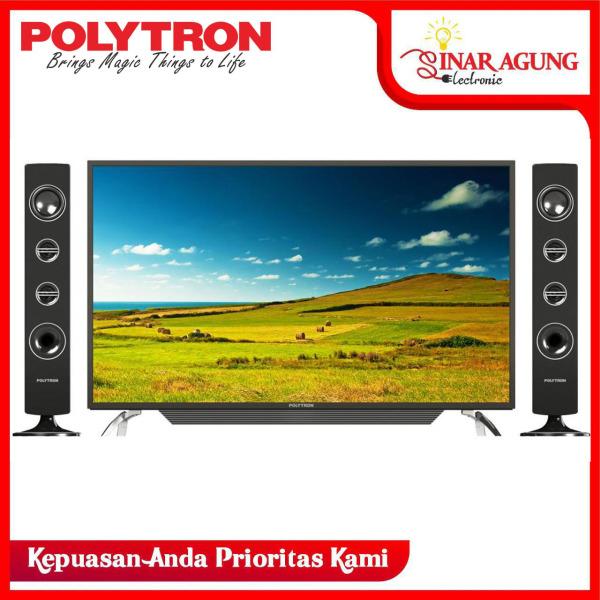 POLYTRON Cinemax LED TV 39 inchi PLD 40T150 + TOWER SPEAKER (PACKING KAYU)