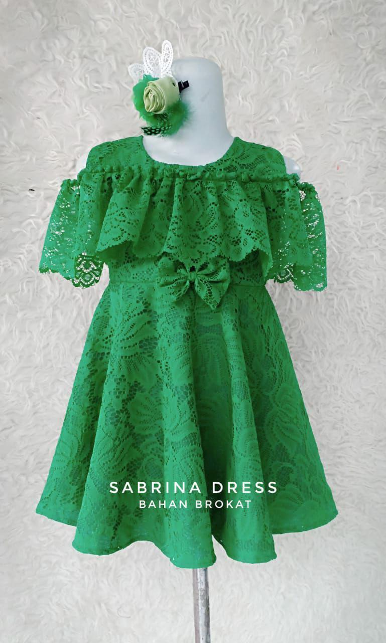 Sabrina Dress Anak Perempuan Bahan Brokat Halus Umur 1 10 Thn Bisa Bayar Ditempat Lazada Indonesia