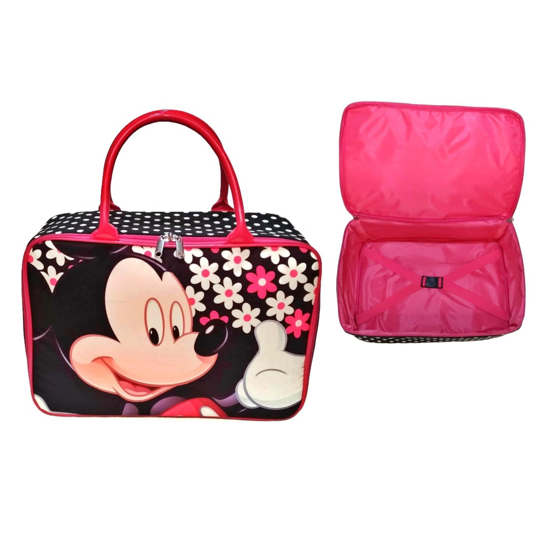 Amt Travel Bag Kanvas Mickey Mouse Jumbo Dengan Karet Pengikat Baju By Baby Kiddies Corner.