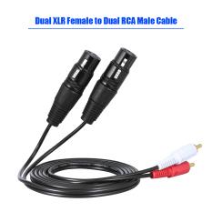 Toko 1 5 M 5 Kaki Kabel Audio Stereo Female Ke Ganda Xlr Rca Male Plug For Mixer Pencampuran Konsol Mikrofon Pengeras Internasional Online