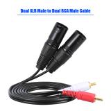 1 5 M 5 Kaki Kabel Audio Stereo Ganda Xlr Laki Laki Ke Rca Male Plug For Penyangga Penguat Mikrofon Mxing Internasional Oem Diskon 30
