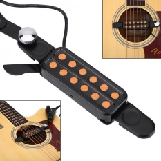 12 Sound Hole Magnetic Pickup Transducer dengan Volume Nada Tuner Kit untuk Gitar Akustik-Internasional
