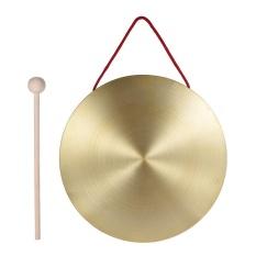 22 Cm Tangan Gong Simbal Kuningan Tembaga Chapel Opera Instrumen Perkusi dengan Round Palu Bermain-Intl
