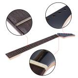 Spesifikasi 24 Resah Penggantian Baru Maple Leher Rosewood Fretboard Fingerboard Untuk Epiphone Electric Gitar Hitam Outdoorfree Intl Terbaru