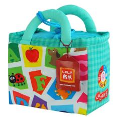 26 buah awal pendidikan bayi bermuka dua warna A-Z huruf kata belajar pada buku kain lembut dengan tas penyimpanan - International