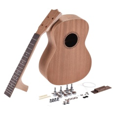 Promo 26In Tenor Ukelele Ukulele Hawaii Guitar Diy Kit Sapele Wood Body Rosewood Fingerboard With Pegs String Bridge Nut Intl Di Tiongkok