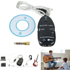 271814858783 Guitar to USB Interface Link Audio Cable+6.5mm Male Stereo Headphone Adapter - intl