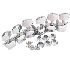 Harga 2Colors Chrome 3X3 Semiclosed Tuning Pegs Machine Heads For Acoustic Guitar Silver Intl Baru Murah