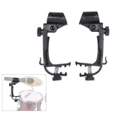 Spesifikasi 2Pcs Clamp Clip On Drum Rim Microphone Mic Mount Holder Adjustable Shockproof Intl Murah Berkualitas