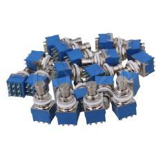 Dimana Beli 3Pdt 9 Pin Effects Stomp Foot Switch T Bypass Silvery Blue Set Of 40 Intl Oem