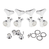 Diskon 4 Chrome Sealed Tuning Pegs Tuners Machine Heads For Bass Guitar 2L 2R Unbranded Di Hong Kong Sar Tiongkok