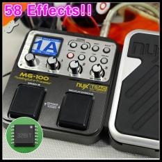 58 Efek 6-Band Graphic EQ Built-In Mesin Drum NUX MG-100 Gitar Elektrik/Biola/Ukulele Multi-Efek pedal Prosesor C dengan 72 Preset Fungsi Loop + Gratis 9 V Converter Prosesor-Intl