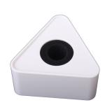 Beli Abs Injeksi Cetakan Logo Stasiun Mikrofon Segitiga Putih Terbaru