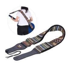 Toko Adjustable Guitar Katun Tali Bahu Pu Kulit Berakhir Dengan Pick Pocket Tie Untuk Folk Akustik Klasik Gitar Bass Hootenanny Gaya Pola Intl Online Terpercaya