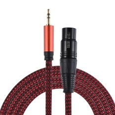 ammoon 2m/ 6.6ft XLR Female to 3.5mm TRS Male Plug Audio Cable Cord for Computer Mixer Mixing Console Recorder Speaker Microphone