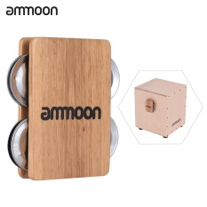 Ammoon Cajon Box Drum Aksesori Pendamping 4-bell Jingle Castanet untuk Instrumen Perkusi Tangan-Intl