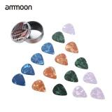 Ammoon Gitar Picks 16 Pcs Seluloid Picks 4 Warna 4 Ketebalan Dengan Kotak Penyimpanan Logam Untuk Gitar Akustik Folk Intl Tiongkok Diskon