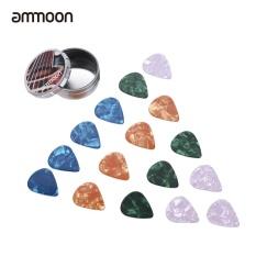Harga Ammoon Gitar Picks 16 Pcs Seluloid Picks 4 Warna 4 Ketebalan Dengan Kotak Penyimpanan Logam Untuk Gitar Akustik Folk Intl Termahal