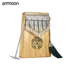 Spek Ammoon Kalimba Mbira Thumb Piano Sanza 17 Keys Solid Wood Finger Piano With Carry Bag Intl Not Specified