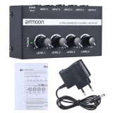 Ammoon Mx400 Ultra Compact Low Noise 4 Channels Line Mono Audio Mixer With Power Adapter Intl Diskon Akhir Tahun