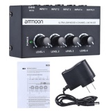 Spesifikasi Ammoon Mx400 Ultra Compact Low Noise 4 Channels Line Mono Audio Mixer With Power Adapter Intl Online