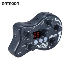 Diskon Ammoon Pockrock Portable Guitar Multi Effects Processor Effect Pedal 15 Effect Types 40 Drum Rhythms Tuning Function With Power Adapter Uk Intl Not Specified Tiongkok