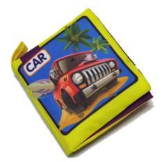 Buku Soft Cloth untuk Belajar Mobil dan Kendaraan Buku Balita Pendidikan Balita-Intl