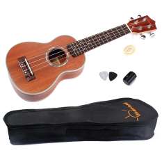 Review Bolehdeals 53 34 Cm Built Of Wood Mahoni With Gitar Hawaii Ukulelenya Sopran Gitar Kecil Tas Manggung