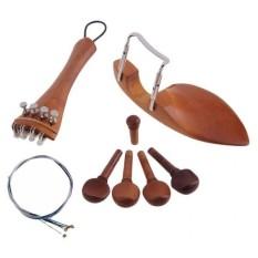 BolehDeals 4/4 Penyangga Dagu Biola Tailpiece Penyetel Nada Pasak Tala Tailgut Endpin String-Intl