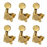 Beli Bolehdeals 6Pcs Guitar String Tuning Pegs Tuners For Acoustic Electric Guitar Musical Instruments 6R Gold Intl Cicilan