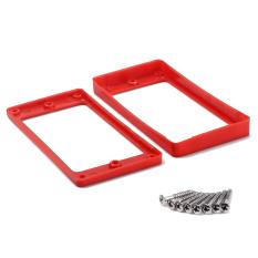 BolehDeals Merah Plastik Seadanya Pemasangan Cincin For LP GIBSON Guitar With Sekrup Set 2
