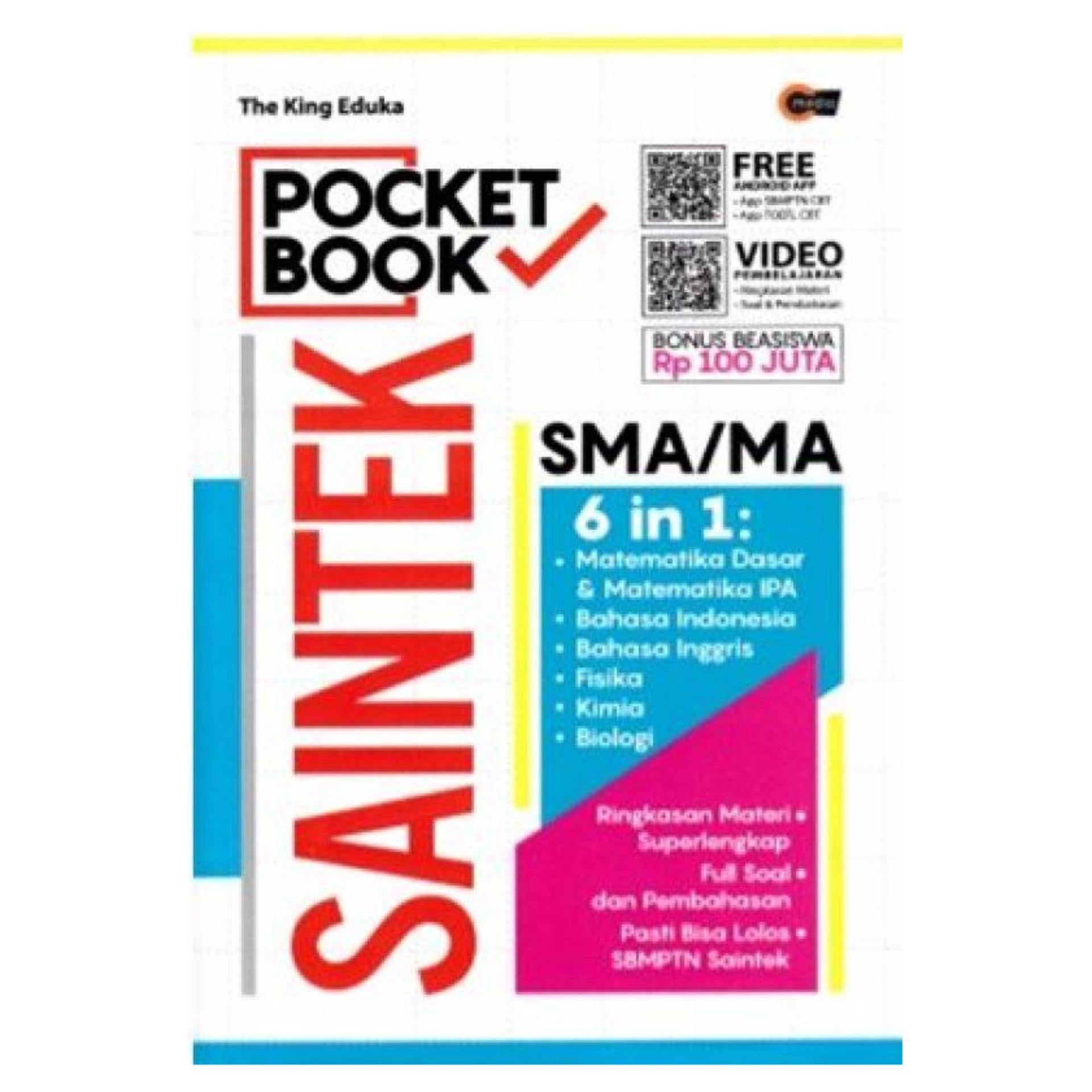 Buku Pocket Book : Saintek Sma/Ma 6 In 1 Cmedia