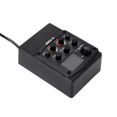 Kerub G-nada GT-6 Gitar Akustik Preamp Piezo Ambil 3-band EQ Menyamakan Kedudukan LCD Penala With Berbalas /menunda/Paduan Suara/efek Luas