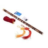 Jual Chinese Musical Instrument Hard Bitter Bamboo Flute F Key Dizi Flute Intl Satu Set