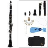 Klarinet Abs 17 Kunci Bb Flat Soprano Teropong Klarinet Dengan Kain Pembersih Sarung Tangan 10 Reeds Obeng Reed Case Woodwind Instrument Di Hong Kong Sar Tiongkok