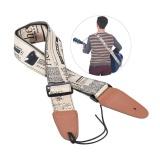 Beli Nyaman Adjustable Guitar Shoulder Strap Kulit Sintetis Berakhir Untuk Folk Akustik Klasik Gitar Listrik Bass Intl Cicilan