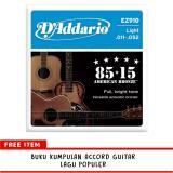 Jual D Addario American Bronze Senar Gitar String 85 15 Acoustic Ez910 Online Dki Jakarta