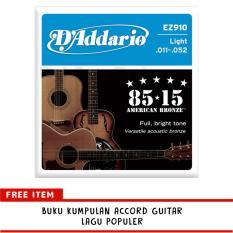 Ongkos Kirim D Addario American Bronze Senar Gitar String 85 15 Acoustic Ez910 Di Dki Jakarta